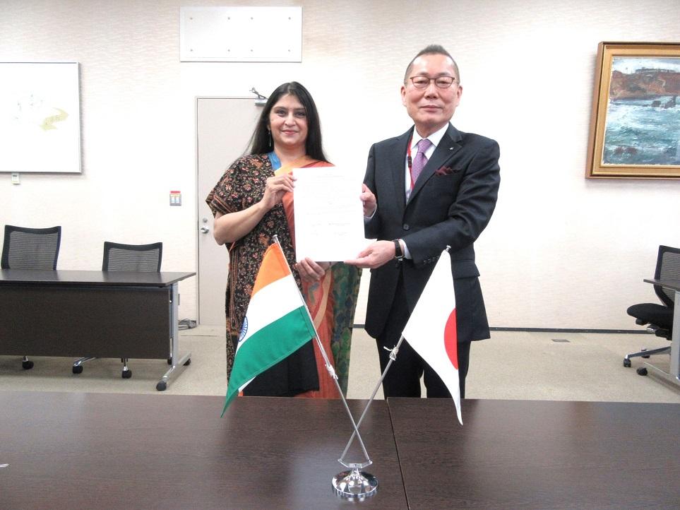 (業界ニュース)ニッセンケンとインド繊維省テキスタイルコミティー / 繊維製品の品質向上・貿易促進で合意締結
