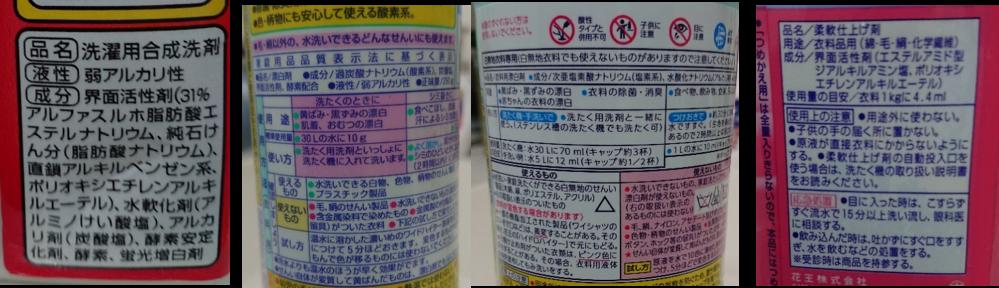 図6 家庭洗濯用洗浄剤の表示例